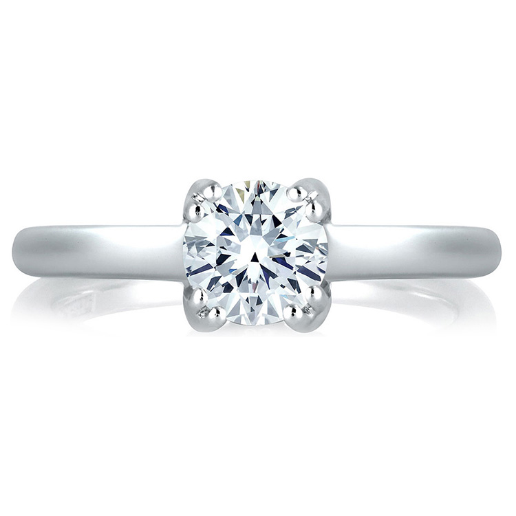 A Jaffe Platinum Solitaire Engagement Ring MES096 Alternative View 2