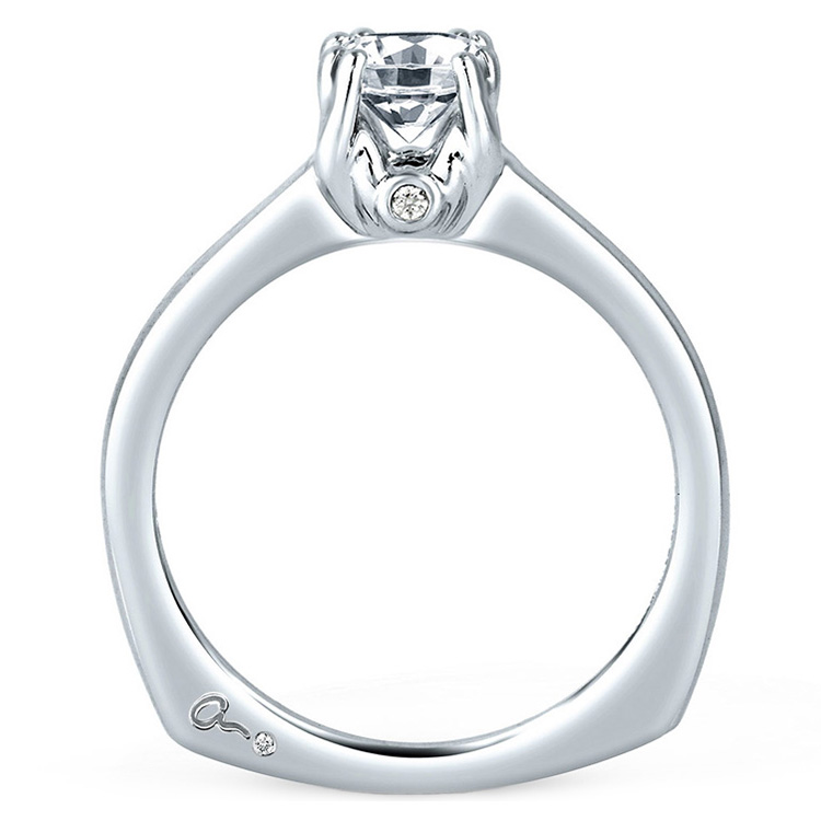 A Jaffe Platinum Solitaire Engagement Ring MES096 Alternative View 1