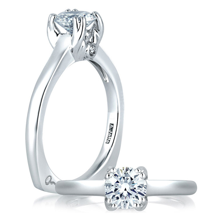 A Jaffe 18 Karat Solitaire Engagement Ring MES096