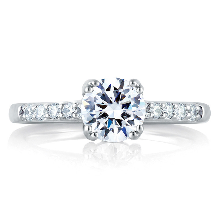 A Jaffe Platinum Signature Engagement Ring MES097 Alternative View 2