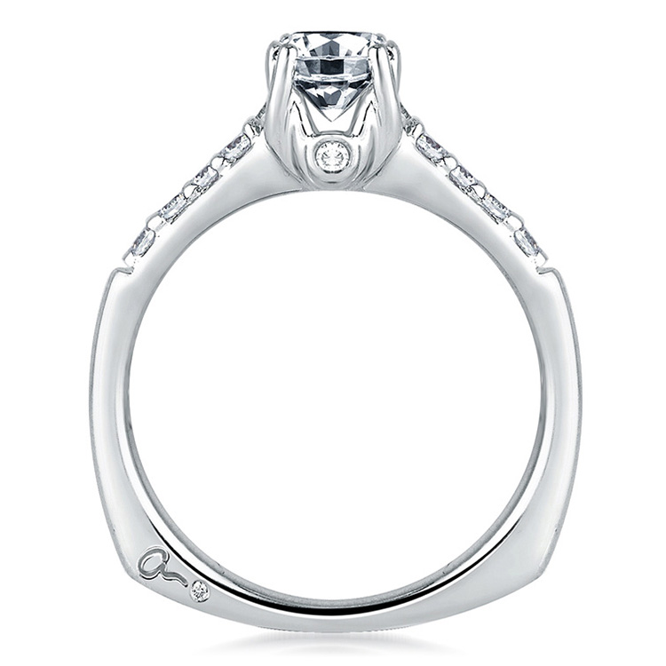 A Jaffe Platinum Signature Engagement Ring MES097 Alternative View 1