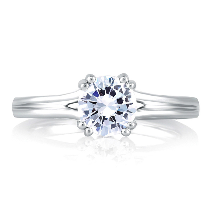 A Jaffe Platinum Solitaire Engagement Ring MES143 Alternative View 2