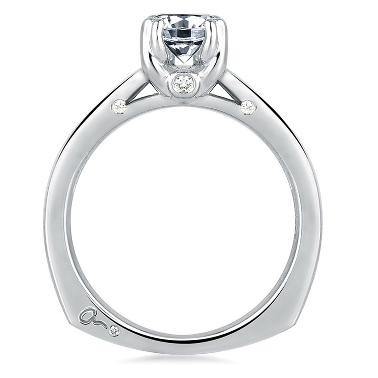 A Jaffe Platinum Solitaire Engagement Ring MES143 Alternative View 1