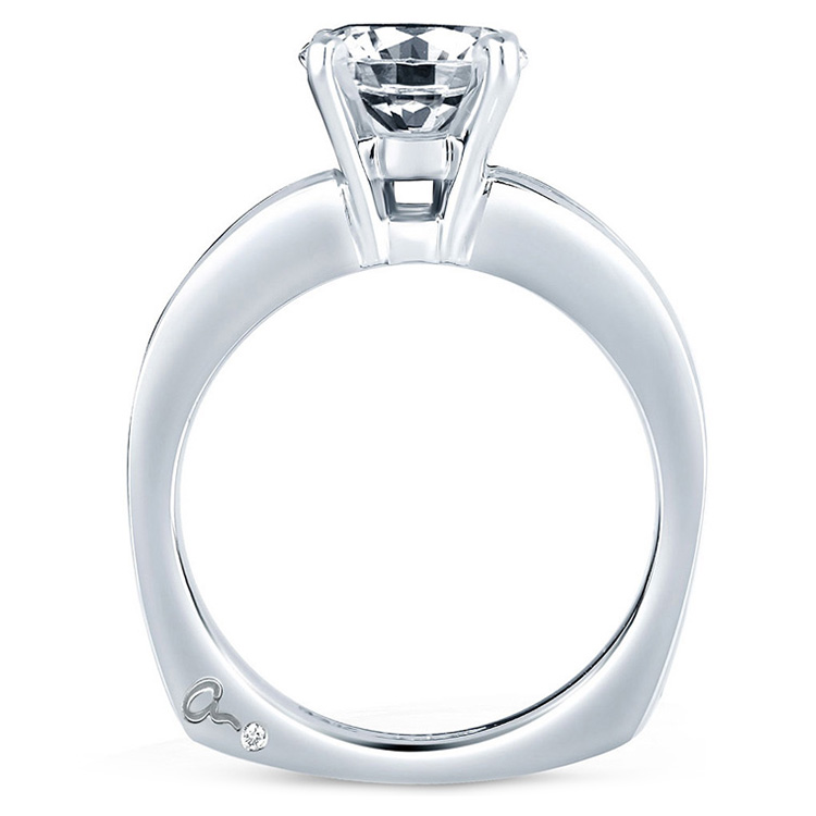 A Jaffe 18 Karat Signature Engagement Ring MES161 Alternative View 1