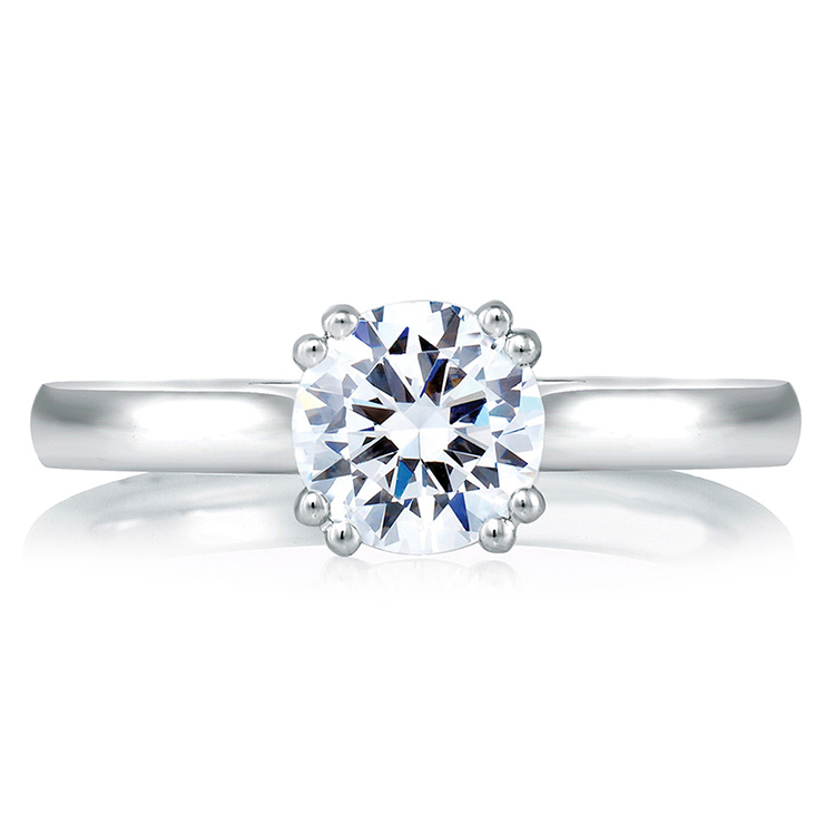 A Jaffe Platinum Solitaire Engagement Ring MES166 Alternative View 2