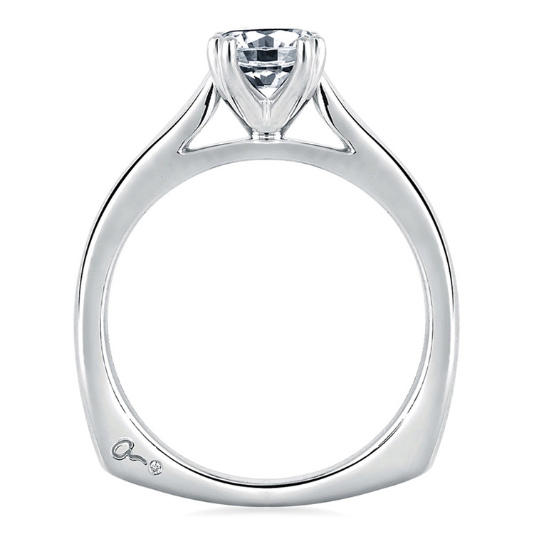 A Jaffe Platinum Solitaire Engagement Ring MES166 Alternative View 1