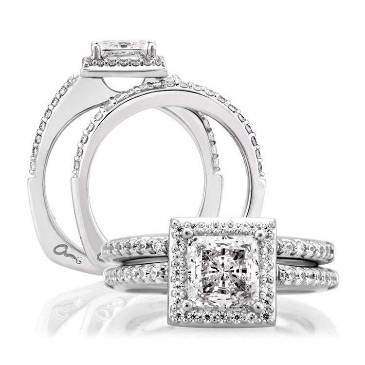 A Jaffe Platinum Signature Engagement Ring MES167 Alternative View 3