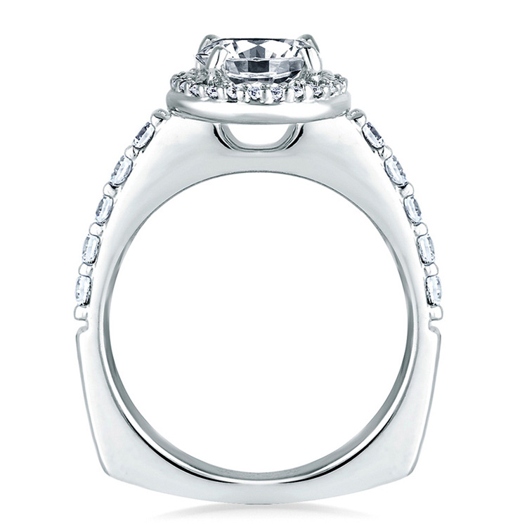 A Jaffe Platinum Signature Engagement Ring MES168 Alternative View 1
