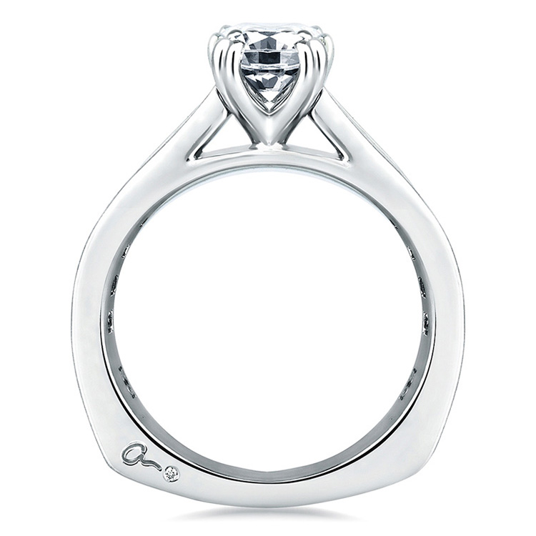 A Jaffe Platinum Signature Engagement Ring MES174 Alternative View 1