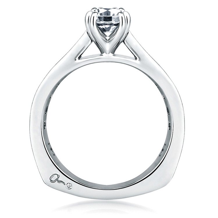 A Jaffe 18 Karat Signature Engagement Ring MES176 Alternative View 1