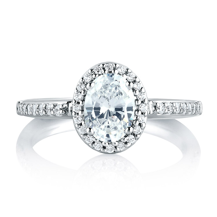 A Jaffe Platinum Signature Engagement Ring MES185 Alternative View 2