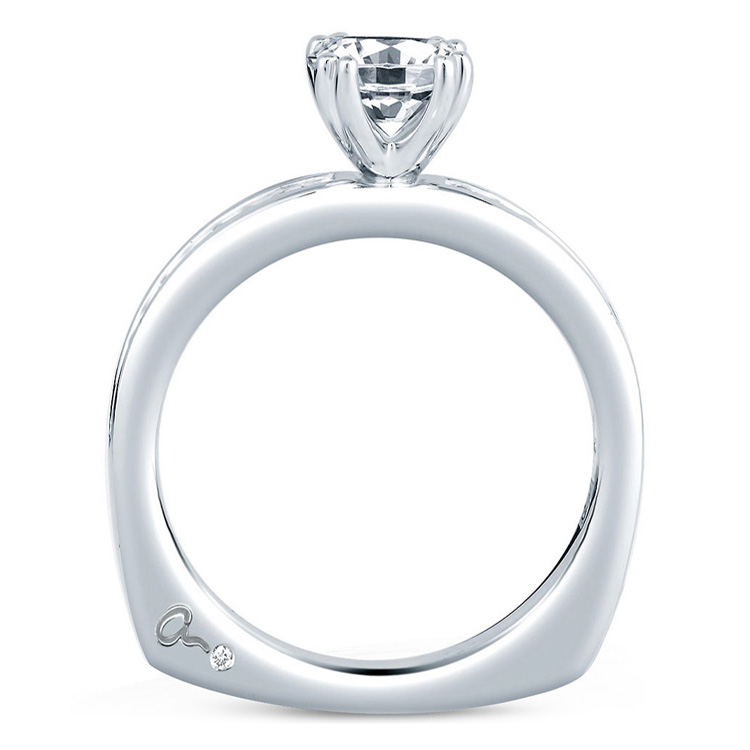 A Jaffe Platinum Signature Engagement Ring MES227 Alternative View 1