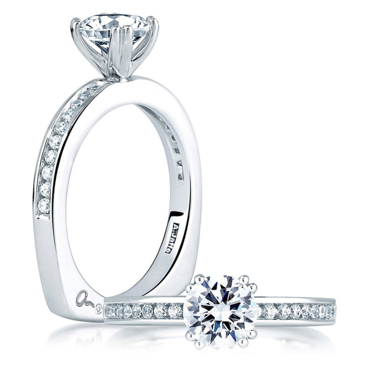 A Jaffe Platinum Signature Engagement Ring MES227