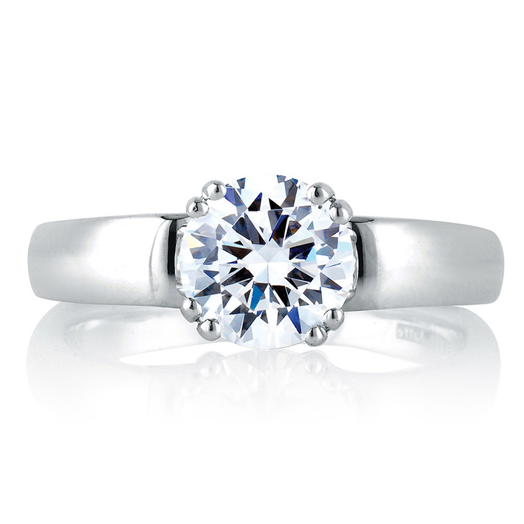 A Jaffe 18 Karat Solitaire Engagement Ring MES237 Alternative View 2