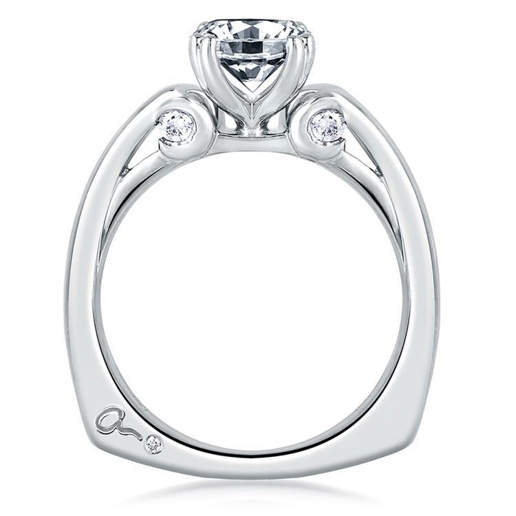 A Jaffe Platinum Solitaire Engagement Ring MES237 Alternative View 1