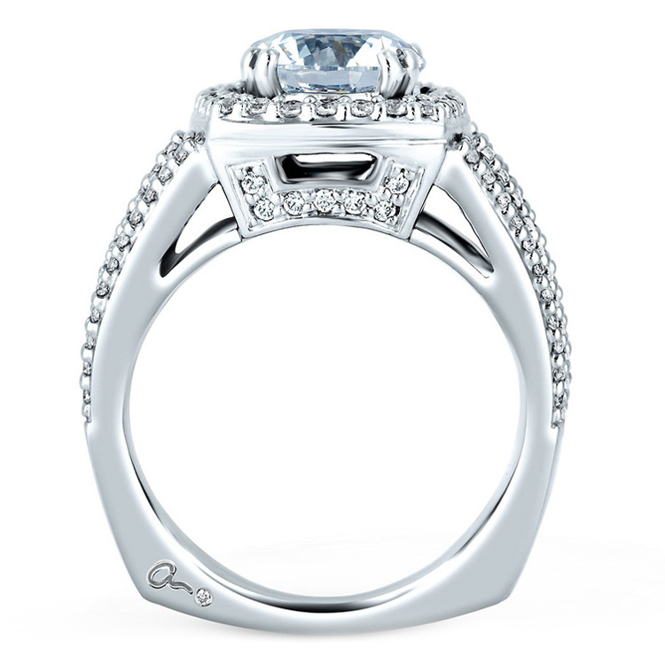 A Jaffe Platinum Signature Engagement Ring MES256 Alternative View 1