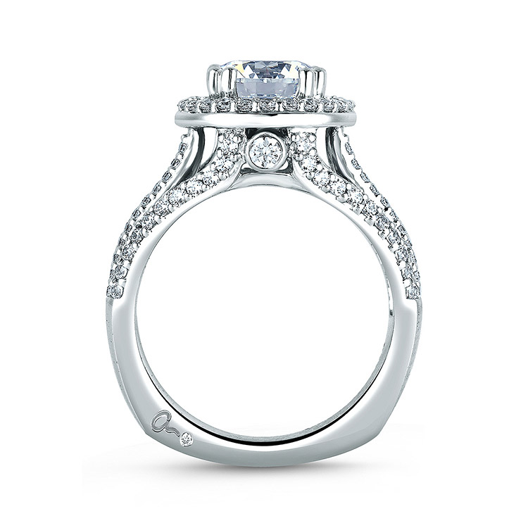 A Jaffe Platinum Signature Engagement Ring MES268 Alternative View 1