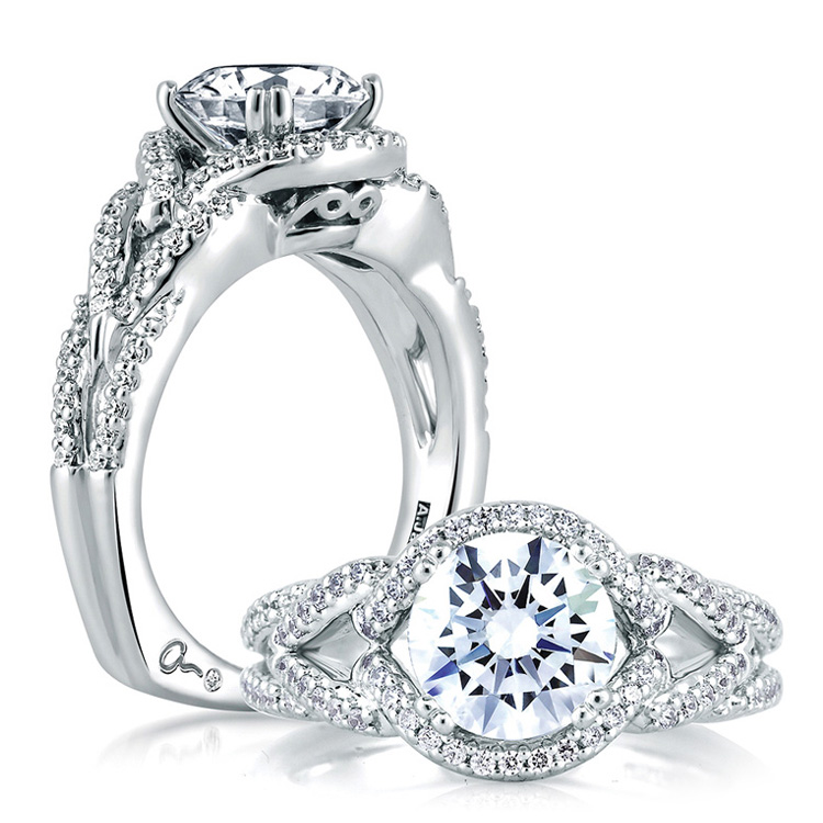 A Jaffe Platinum Signature Engagement Ring MES283