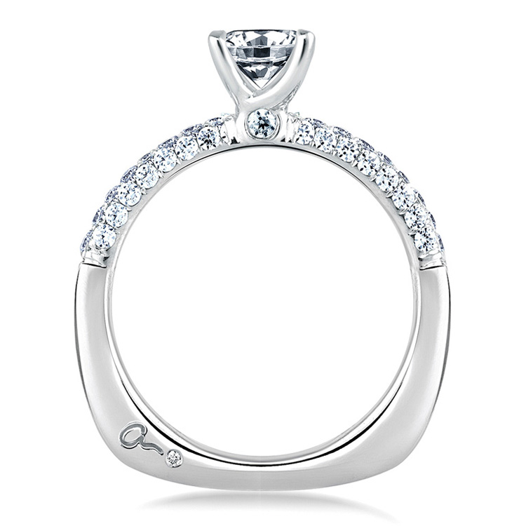 A Jaffe Platinum  Signature Engagement Ring MES307 Alternative View 1