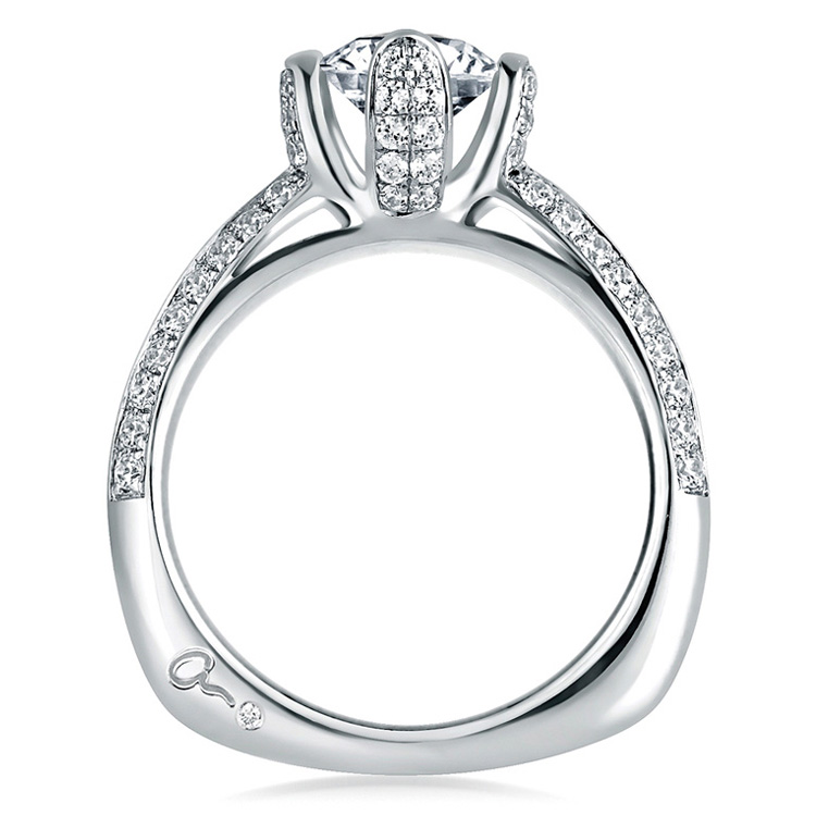 A Jaffe Platinum Signature Engagement Ring MES323 Alternative View 1