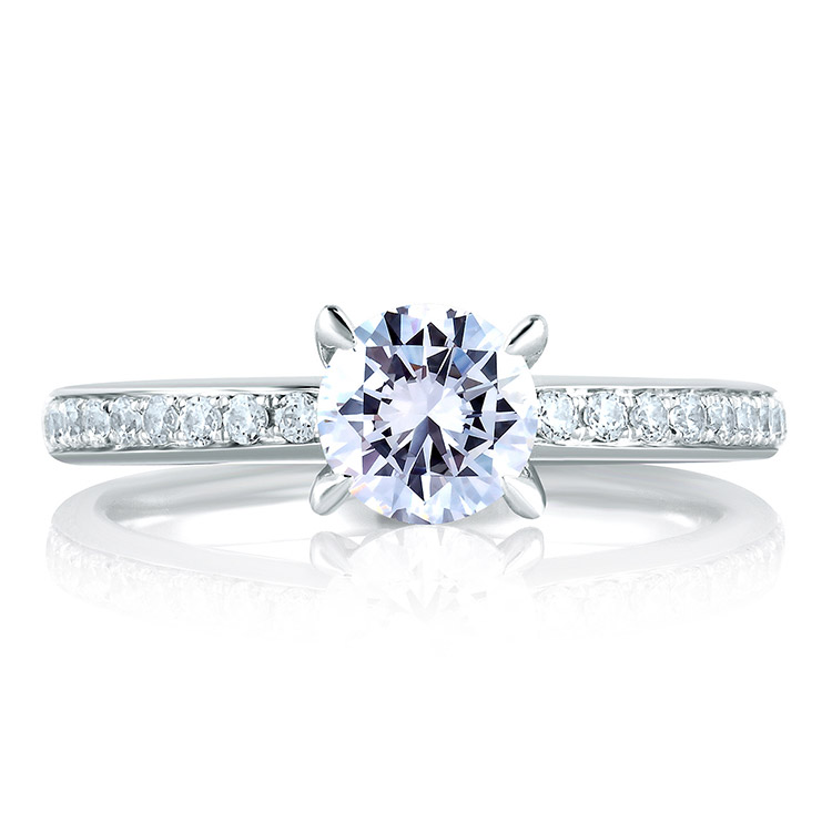 A Jaffe Platinum Signature Engagement Ring MES327 Alternative View 2