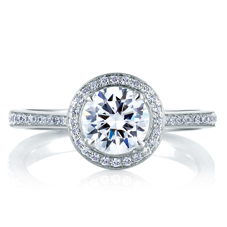 A Jaffe Platinum Signature Engagement Ring MES332 Alternative View 2