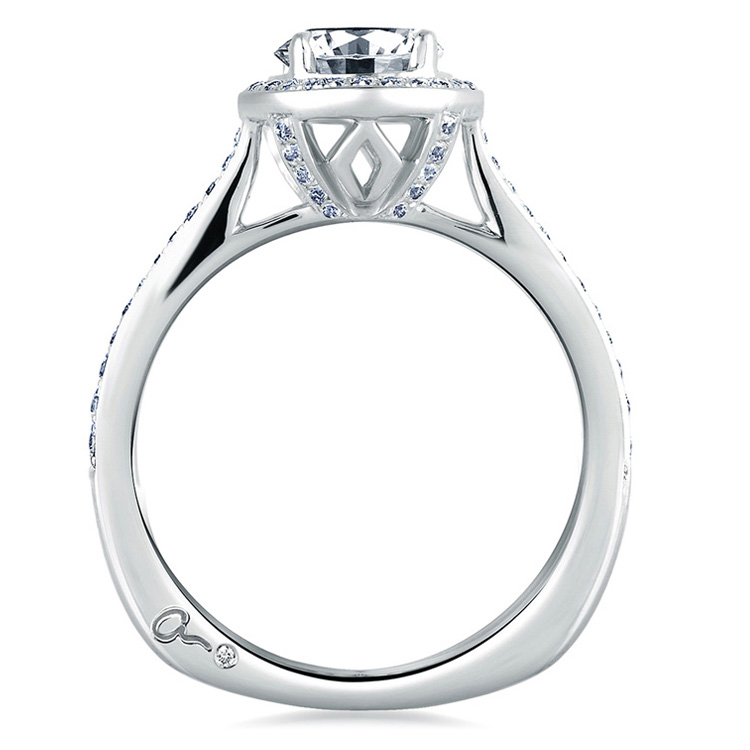 A Jaffe 18 Karat Signature Engagement Ring MES332 Alternative View 1