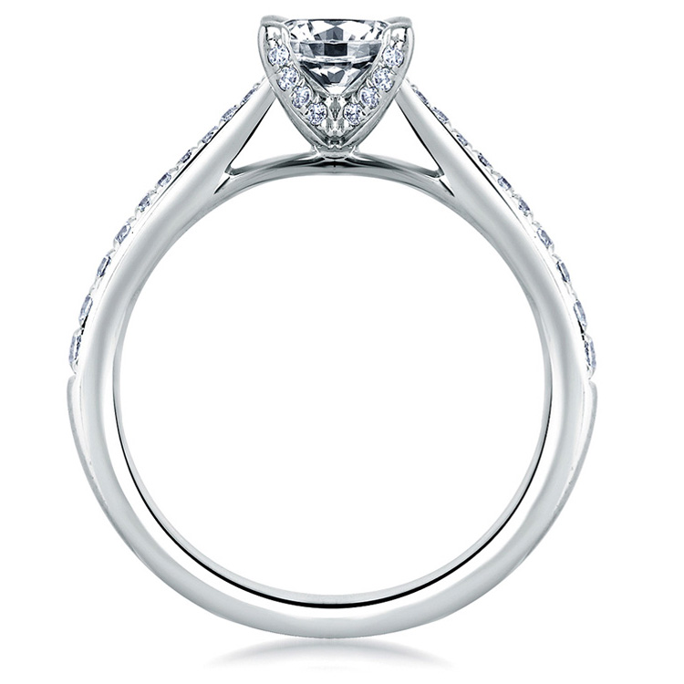 A Jaffe Platinum Signature Engagement Ring MES334 Alternative View 1