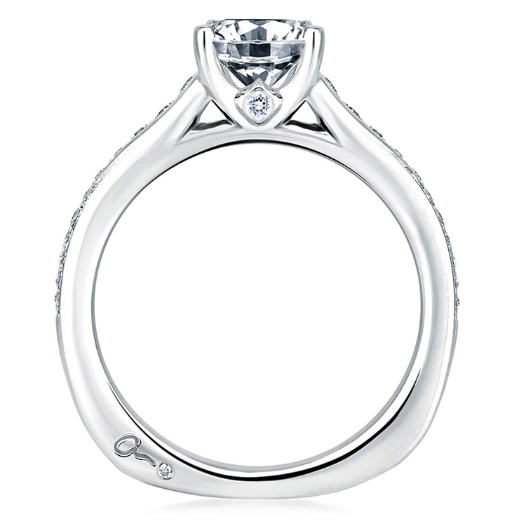 A Jaffe Platinum Signature Engagement Ring MES336 Alternative View 1