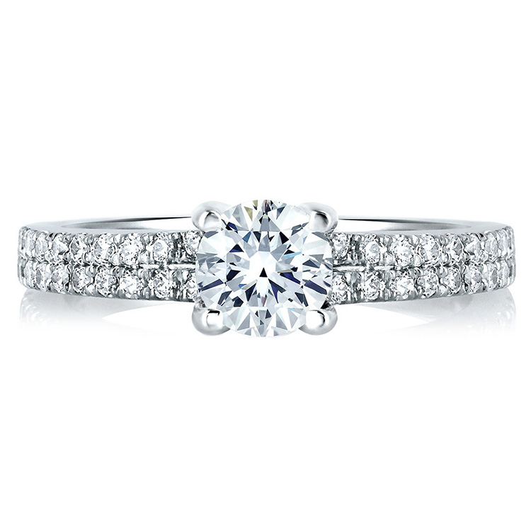 A Jaffe Platinum Signature Engagement Ring MES364 Alternative View 2