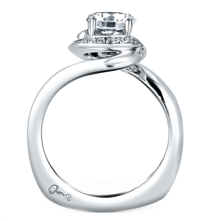 A Jaffe Platinum Signature Engagement Ring MES374 Alternative View 1