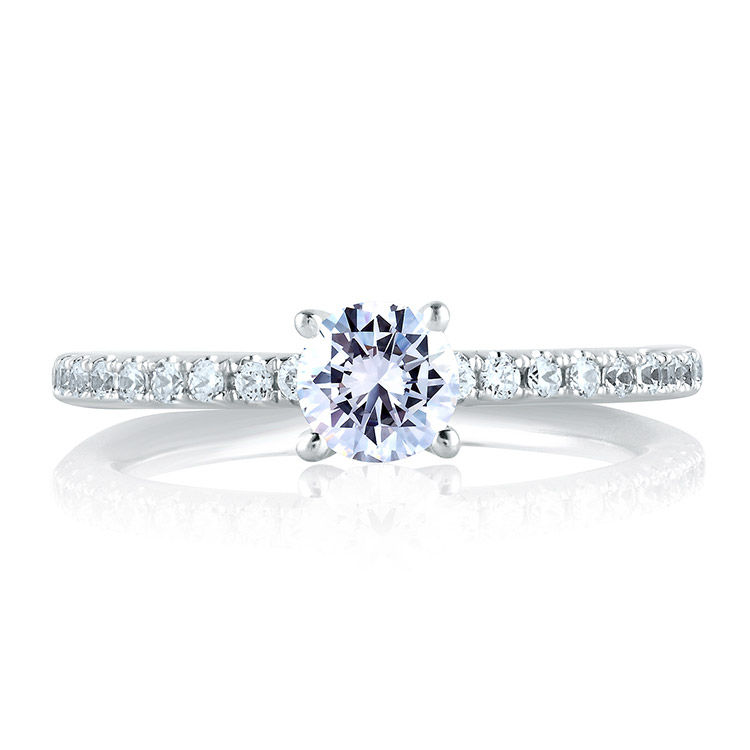 A Jaffe Platinum Signature Engagement Ring MES375 Alternative View 2