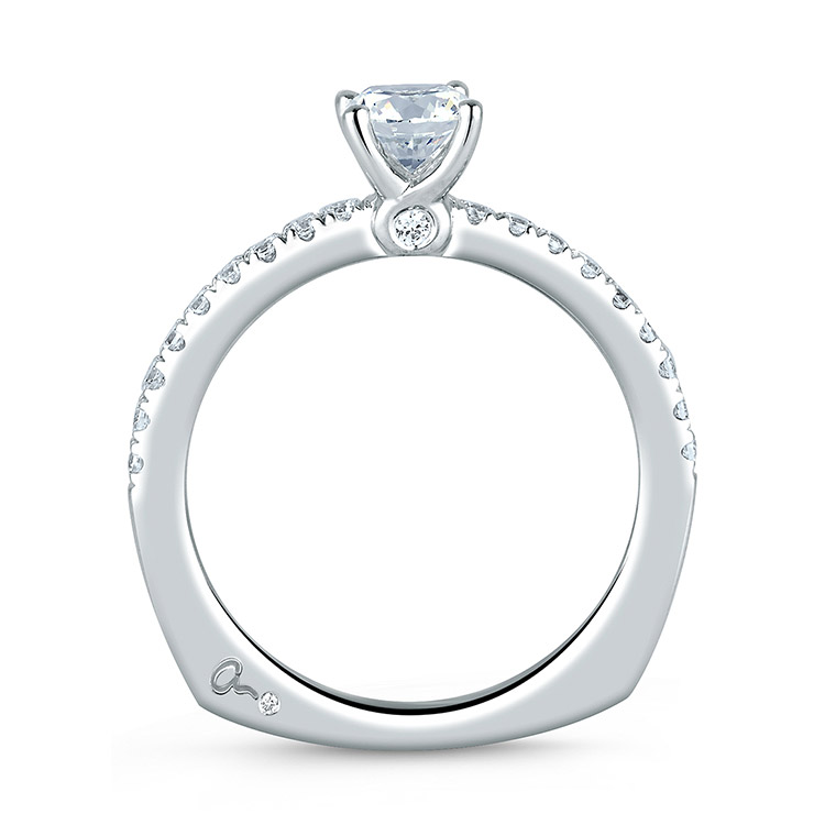 A Jaffe Platinum Signature Engagement Ring MES375 Alternative View 1