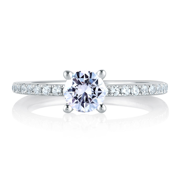A Jaffe Platinum Signature Engagement Ring MES382 Alternative View 2