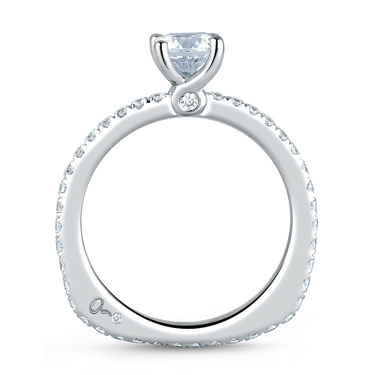 A Jaffe Platinum Signature Engagement Ring MES382 Alternative View 1