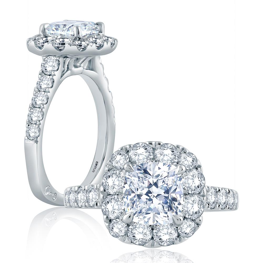 a jaffe platinum signature engagement ring mes864 tq
