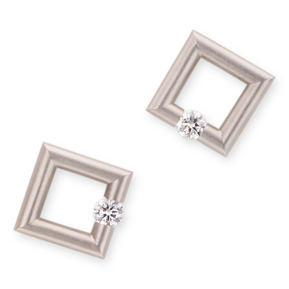 Kretchmer Pt950 Platinum Micro Jazz Round Earrings Alternative View 1