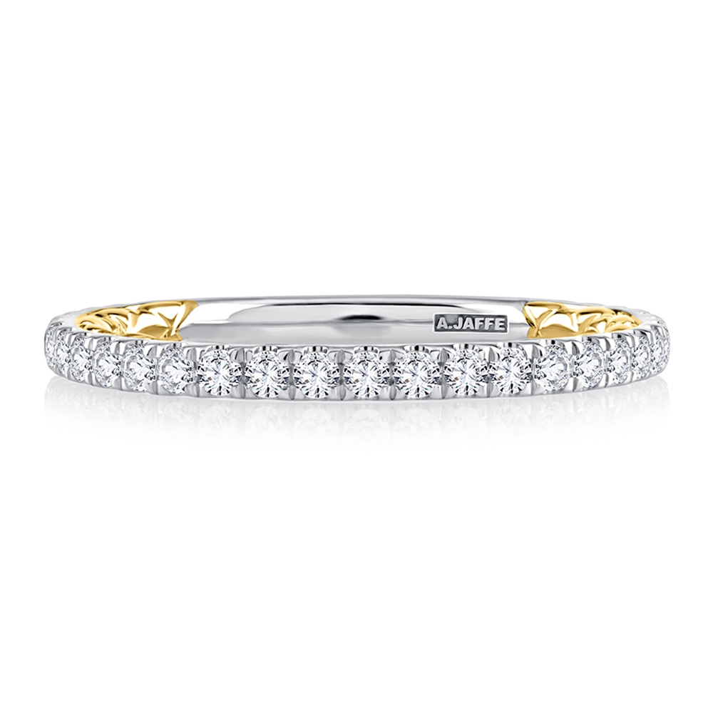 A.JAFFE 14 Karat Classic Diamond Wedding Ring MRCOV2334Q