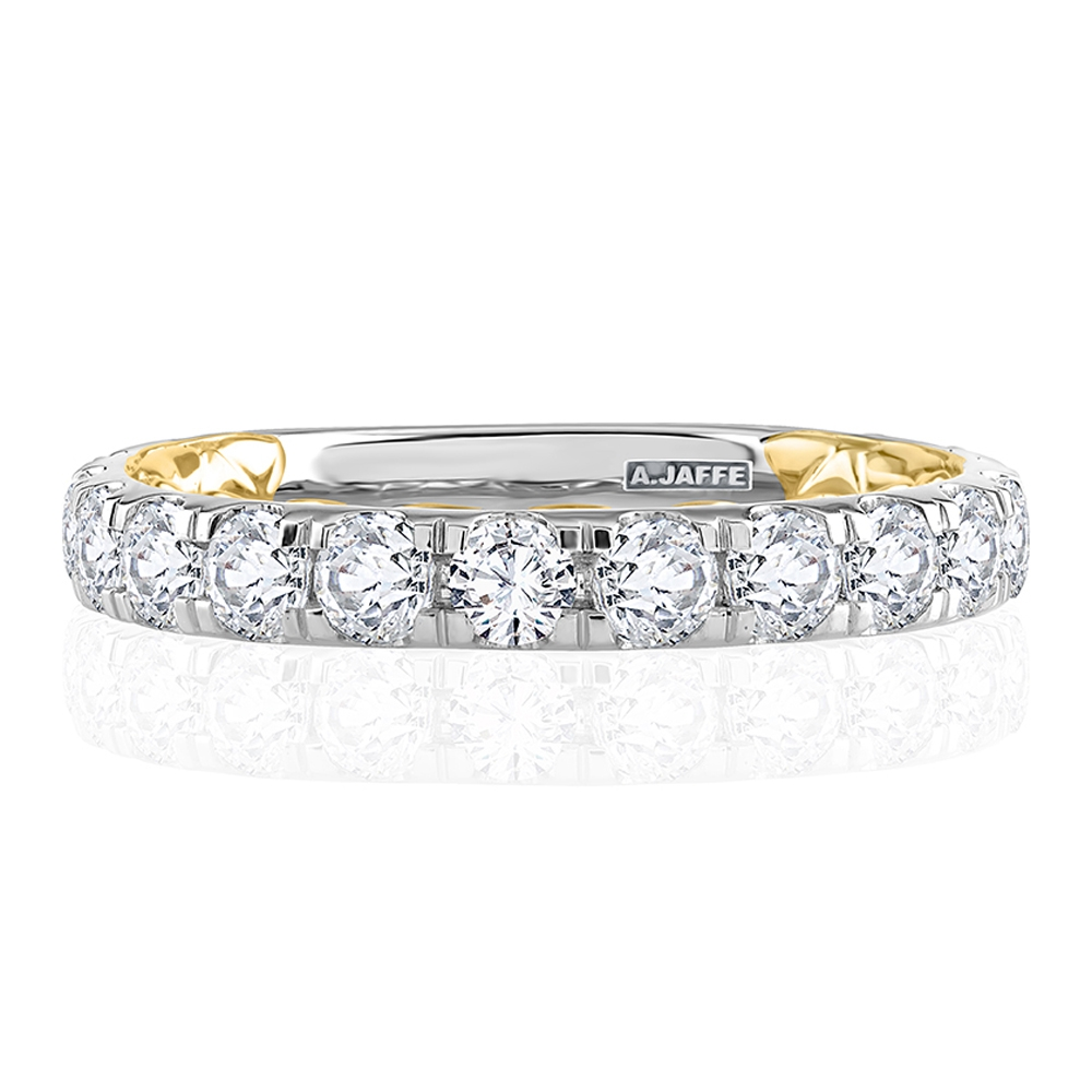 A.JAFFE 14 Karat Metropolitan Diamond Wedding Ring MRCRD2348Q