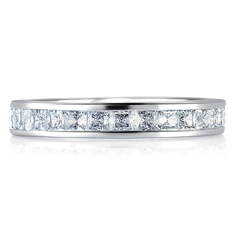 A Jaffe Signature Platinum Wedding Ring MRS176 Alternative View 2