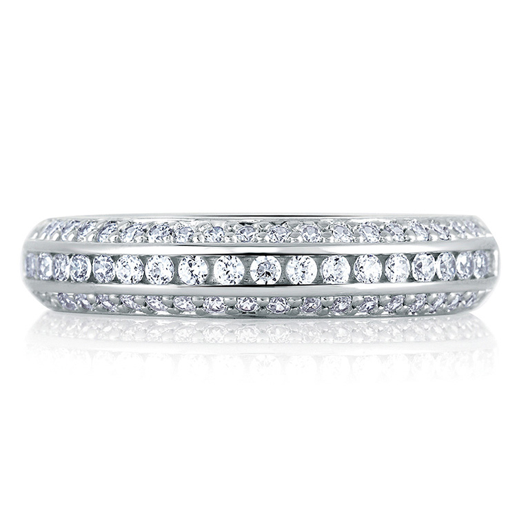 A Jaffe Signature 18 Karat Wedding Ring MRS235 Alternative View 2