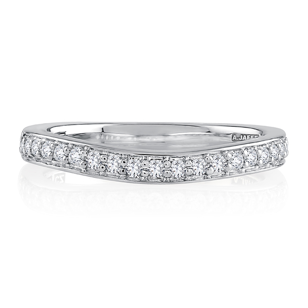 A.JAFFE 18 Karat Metropolitan Diamond Wedding Ring MRSRD2346