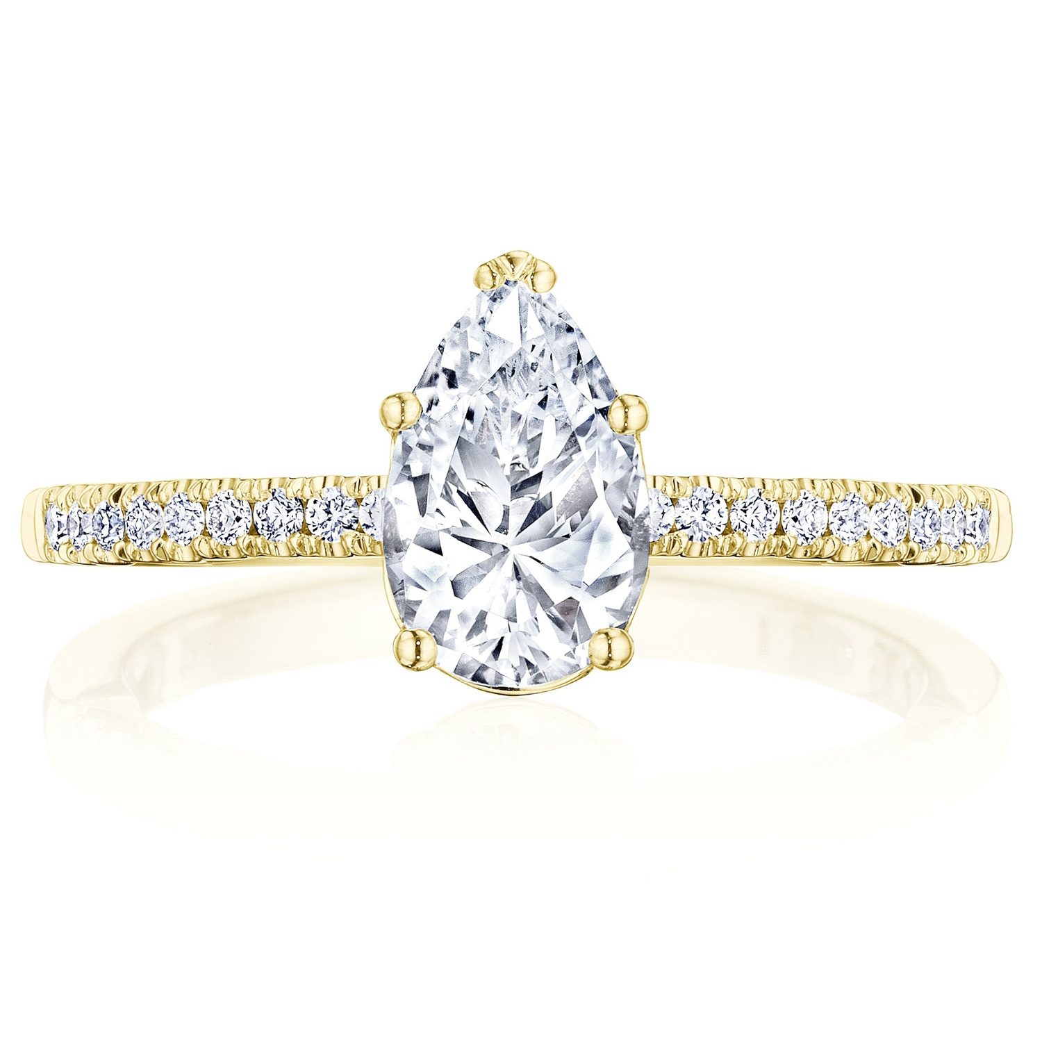 Tacori P104PS85X55FY 14 Karat Coastal Crescent Engagement Ring