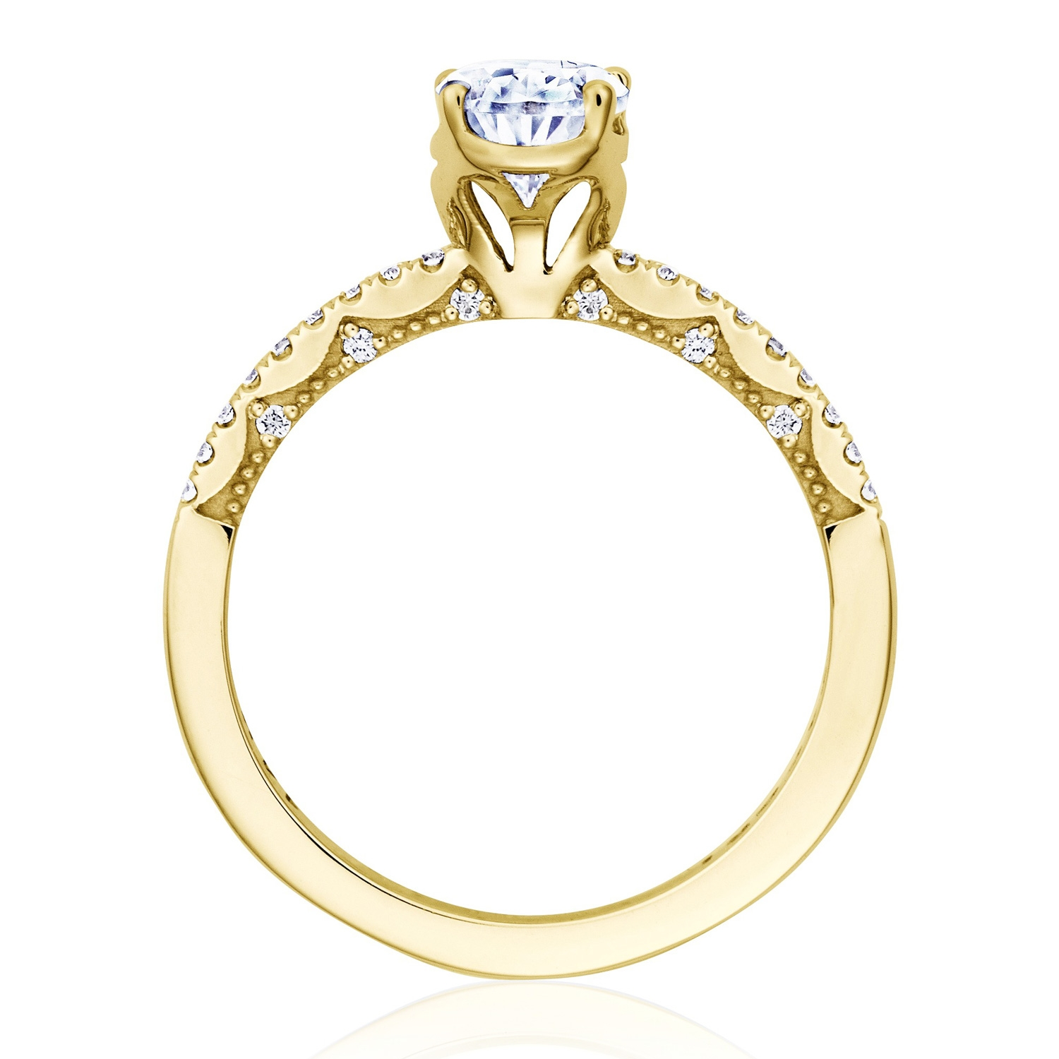 Tacori P104PS85X55FY 14 Karat Coastal Crescent Engagement Ring Alternative View 1