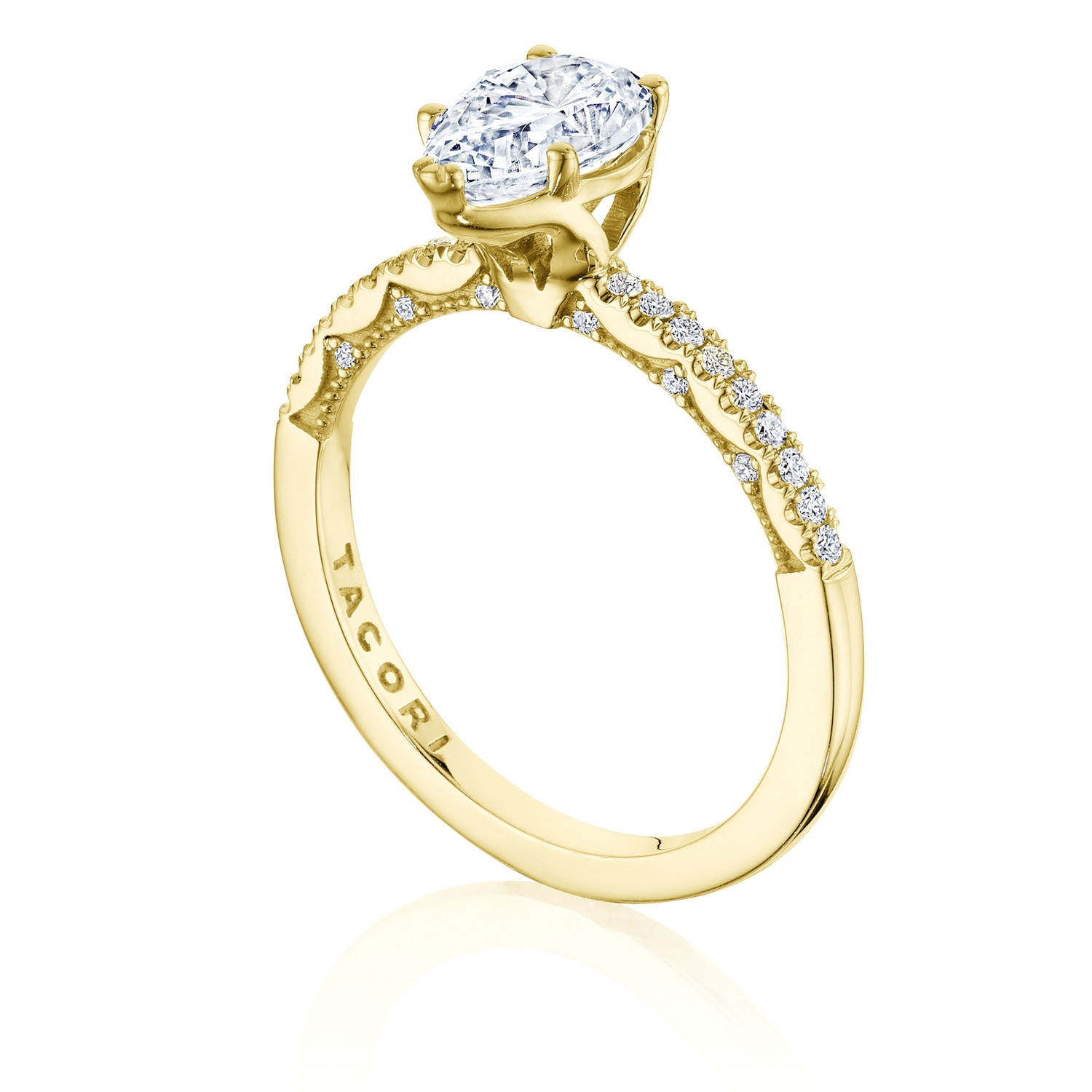 Tacori P104PS85X55FY 14 Karat Coastal Crescent Engagement Ring Alternative View 2