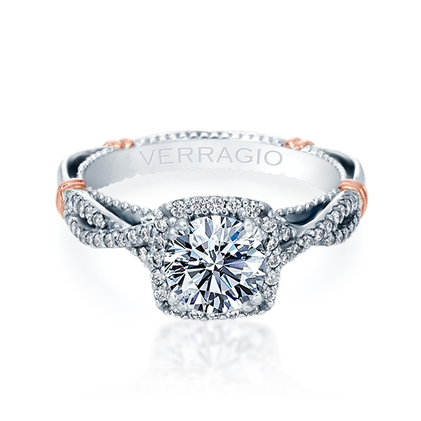 Verragio Parisian-106CU 18 Karat Engagement Ring Alternative View 1