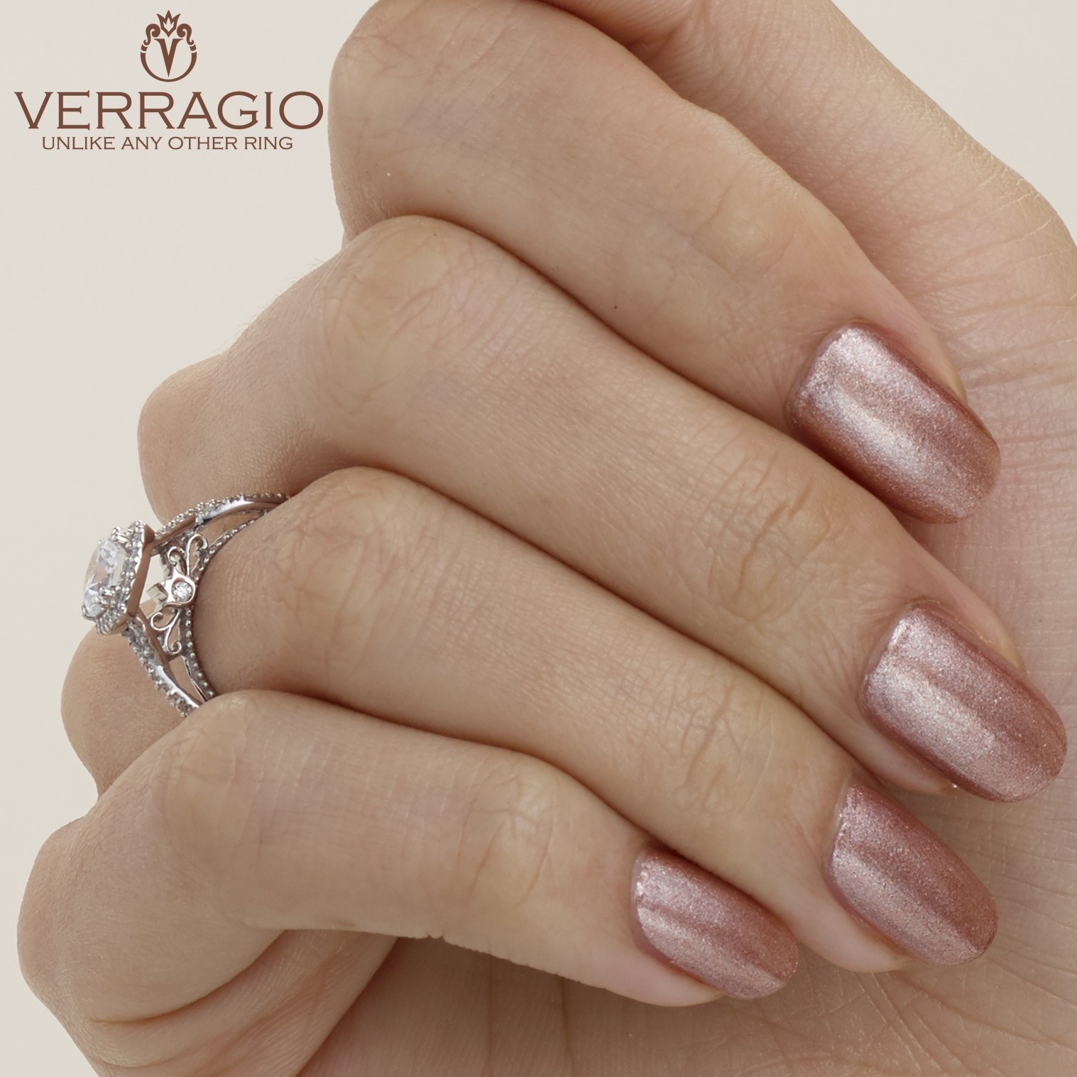 Verragio Parisian-106CU 18 Karat Engagement Ring Alternative View 7