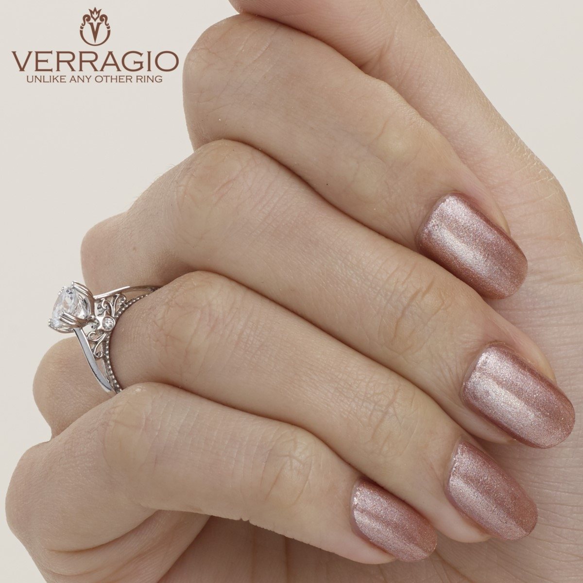 Verragio Parisian-120 Platinum Engagement Ring Alternative View 7