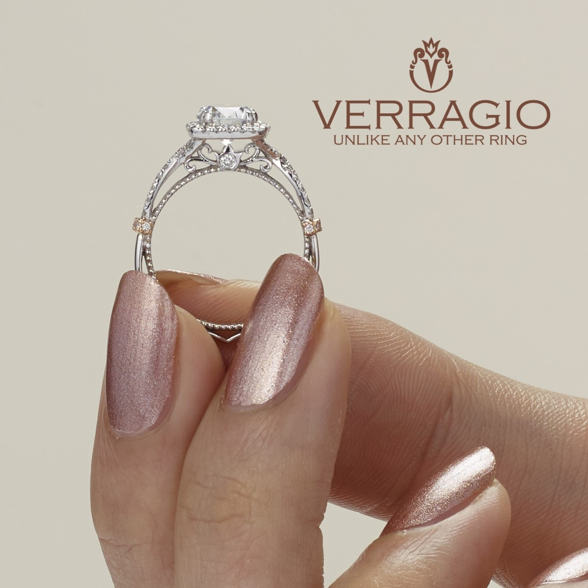 Verragio Parisian-DL106CU 14 Karat Engagement Ring Alternative View 5
