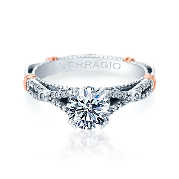 Verragio Parisian-102 Platinum Engagement Ring Alternative View 1